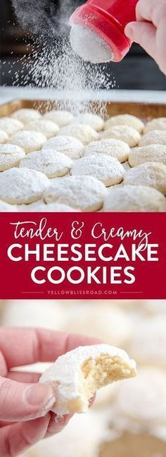 Healthy Recipes Cheesecake Cookies - A creamy, tender and delicious cookie that's a not too sweet but totally addictive dessert! - Cheesecake Cookies - A creamy, tender and delicious cookie that's a not too sweet but totally addictive dessert! Holiday Baking, Christmas Baking, Christmas Cookies, Christmas Sweets, Christmas Mix, Christmas Kitchen, Christmas Recipes, Dessert Haloween, Brownie Desserts