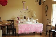 And Baby Makes Three: Pink and Damask Baby Shower
