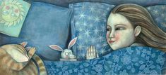 anna forlati: Mama Kabeera Dream Illustration, Anna, Figure Painting, Bedtime, Sweet Dreams, Childrens Books, Fine Art, Photo And Video, Comics