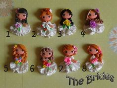 Set of  Brides Polymer Clay Charm Bead by KellyBowieDesign on Etsy, $36.00