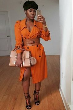 100 Beautiful Orange Dress To Your Collection Ideas Chic Outfits, Fall Outfits, Fashion Outfits, Fashion Trends, Fashion Looks, Girl Fashion, Womens Fashion, Style Fashion, Look Girl