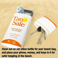 37 Essential Life Hacks Every Human Should Know Need the suntan lotion bottle trick for DR. No one steals sun lotion Lifehacks, Sun Lotion, Good To Know, Summer Fun, Summer Crafts, Summer Beach, Just In Case, Helpful Hints, Good Things