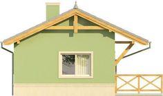 Elewacja KR DOMEK 1 CE Tiny House Design, Gazebo, Shed, Outdoor Structures, Cabin, House Styles, Home Decor, Kiosk, Decoration Home