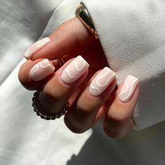 Simple Acrylic Nails, White Acrylic Nails, Best Acrylic Nails, White Nail Art, White Acrylics, Best Nail Art, White Shellac Nails, Pastel Nail Art, Simple Nails