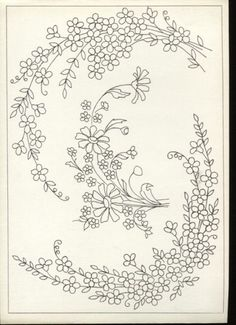ru / Фото - vysivka hladka - - Forget-me-nots Tambour Embroidery, Embroidery Needles, Silk Ribbon Embroidery, Vintage Embroidery, Cross Stitch Embroidery, Machine Embroidery, Embroidery Flowers Pattern, Hand Embroidery Designs, Lace Patterns