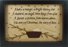 A baby, a manger, a bright shining star. A shephard, an angel, three kings from… Christmas Quotes, Christmas Love, Christmas Signs, A Christmas Story, Christmas Projects, All Things Christmas, Holiday Crafts, Christmas Holidays, Christmas Decorations