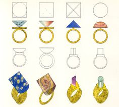 Have you Seen This Forgotten PoMo Jewelry by 1980s Architects?,Jewelry designed by Hans Hollein. Image © Rizzoli New York Courtesy of Sight Unseen