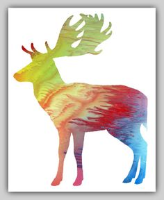 5 Fallow Deer printables different colors Wall by MordaxFurittus