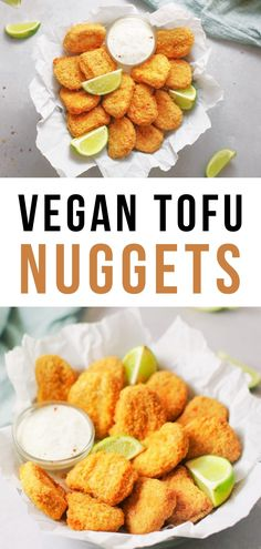 Best Crispy Vegan Tofu Nuggets (Baked) | baked nuggets I baked tofu nuggets | how to make vegan chicken nuggets | best baked vegan tofu nuggets | seasoned tofu nuggets | how to make crispy tofu nuggets | best vegan food for kids | vegan comfort food | fried nuggets that are baked #tofu #tofunuggets #vegannuggets #veganfood Spicy Appetizers, Best Appetizer Recipes, Best Vegetarian Recipes, Delicious Vegan Recipes, Whole Food Recipes, Cooking Recipes, Crispy Tofu, Baked Tofu, Vegan Main Dishes