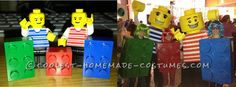Coolest Homemade LEGO Minfigures and Blocks Group Costume... This website is the Pinterest of costumes