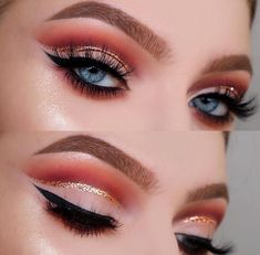 Tutorials by tina red gold glitter cut crease modern renaissance