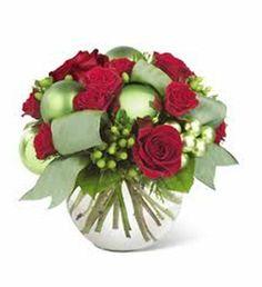 holiday flower centerpiece