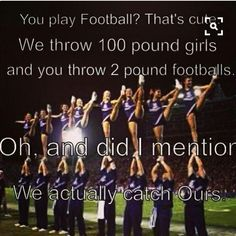cheer quotes Charles Barkley, on being better than Michael Jordan I love cheer with all my heart but I disagree because football along with wrestling is one of the toughest Cheer Qoutes, Cheerleading Quotes, Gymnastics Quotes, Cheer Sayings, School Cheerleading, Competitive Cheerleading, Cute Cheer Quotes, Football Cheerleading, Cheerleading Cheers
