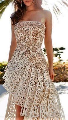 facebook.com Crochet Skirts, Crochet Clothes, Summer Cardigan, Pretty Dresses, Sexy Dresses, Summer Dresses, Crochet Fashion, Irish Crochet, Love Crochet