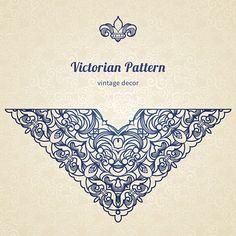 Vector floral vignette in Victorian style. vector art illustration