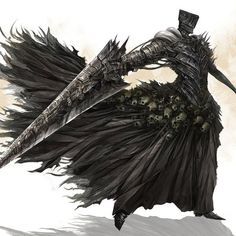 oh hey, its nito in dark souls 2 get it? because he has a similar sword, a death motif, and he's a big dude in armor? - added by lipidregent at Character Art: Undead Pt 2 Fantasy Character Design, Character Design Inspiration, Character Art, Fantasy Warrior, Armor Concept, Concept Art, Arte Dark Souls, Fantasy Monster, Monster Design