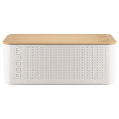 Buy White BODUM Bistro Bread Bin from our Kitchen Storage range at John Lewis & Partners. Bread Bin, Updated Kitchen, Kitchen Accessories, Kitchen Storage, Bamboo, Stuff To Buy, Bbc, Boxes, Essentials