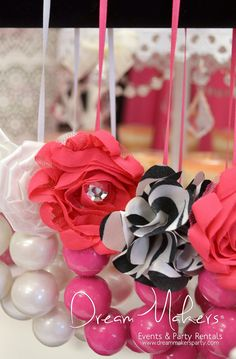 Cute treats at a Zebra Minnie Mouse Birthday Party!     See more party ideas at CatchMyParty.com!  #partyideas #minniemouse