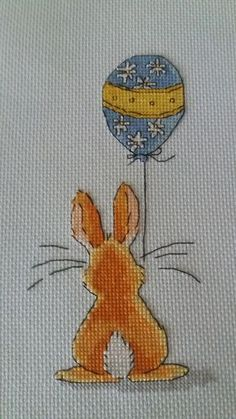 Bunny balloon, sweet and simple.