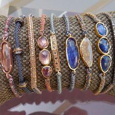 Fine Jewellery on silk bracelets - Brooke Gregson
