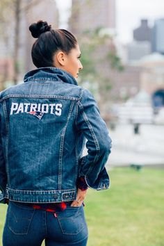 """Game day for Samantha of Fenway Fashionista means """"Denim, flannels, & football. """" Score your game day gear on levi.com"""