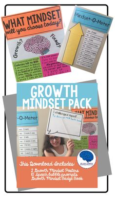 Give your students a Growth Mindset with these awesome posters and  Classroom Management Tool