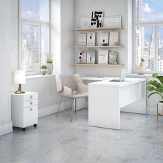 Shop for Office by kathy ireland Echo L Shaped Desk with Mobile File Cabinet. Get free delivery at Overstock.com - Your Online Office Furniture Store! Get 5% in rewards with Club O! - 22396863