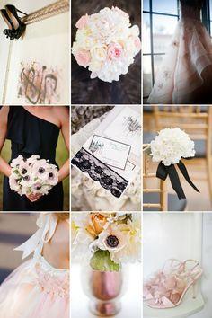 Black Ivory Blush Romantic Wedding Color Inspiration