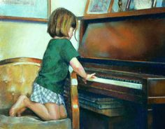 "Title: Impromptu Recital  Media: Pastel  Size: 16 x 20""  by Mary Rochelle"
