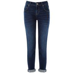 Oasis Hollie Slim Boyfriend Jeans, Denim ($70) ❤ liked on Polyvore