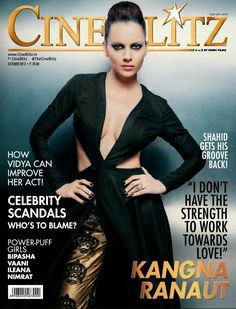 Kangana Ranaut on The Cover of CineBlitz! Magazine - October 2013