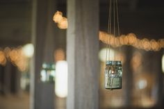 Hanging mason jars SARA + JOHN | Kokomo, Indiana Farm Wedding » i love farm weddings https://www.facebook.com/kelleyroundbarn?fref=nf