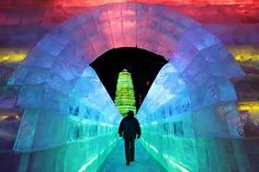 Harbin China Ice Festival.
