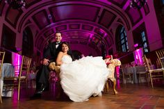 We love the lighting from this wedding in our Great Hall!