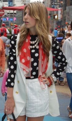 Always a classical piece   Navy Shirt with white polka dots