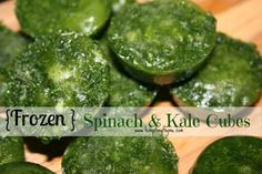 Spinach and Kale Cubes