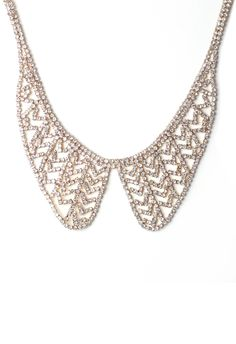 #Chicwish Crystal Peter Pan Collar Necklace - Accessory - Retro, Indie and Unique Fashion