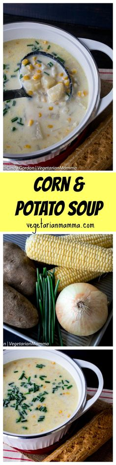 Sometimes all it takes is a big bowl of Corn and Potato Soup to satisfy your hunger. This comfort food will warm your body and make your belly happy!