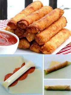 Pizza eggrolls. Brilliant!