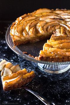French Pear Tart. YES, step-by-step photo instructions to this delicious and elegant dessert. http://www.themediterraneandish.com/french-pear-tart-recipe/