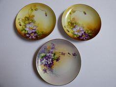 "VTG Nippon Handpainted Porcelain China W. Rose set of 3 7.5"" plates | eBay"