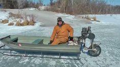 Viral video Ice Sled ice machine still works, old engine saw blade wheel...