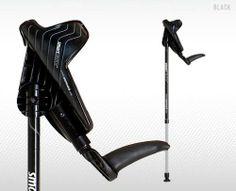 "Smartcrutch Adjustable Forearm Crutches (Black) - 1 Pair / Adult 5'0"" - 6'3"""