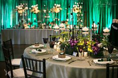 Lucky in Love Wedding Planning Blog - Seattle Weddings at Banquetevent.com  I pinned this because of uplighting