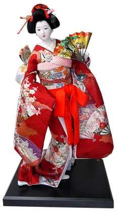 Japanese vintage doll in beautifull kimono. Japanese Kimono Dolls Catalogue. Japanese Art online shop. The Black Samurai Online Shop.