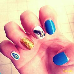 Blue and gold  :)