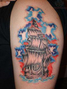 beda77494 18 best Pirate Skull Tattoo images | Pirate skull tattoos, Pirate ...