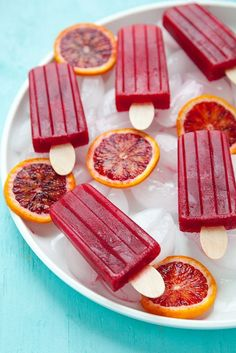 Blood Orange Vanilla Bean Popsicles