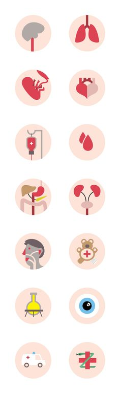 Medical Icon Set by Pieter Frank de Jong, via Behance