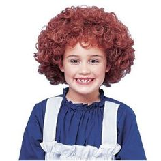Franco Girls Halloween Costume Curly Red Orphan Wig * Continue to the product at the image link.